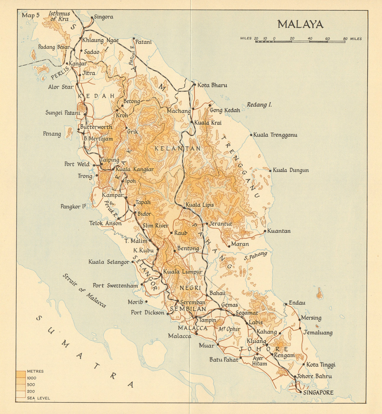 Associate Product Malaya in 1941. Malaysia 1957 old vintage map plan chart