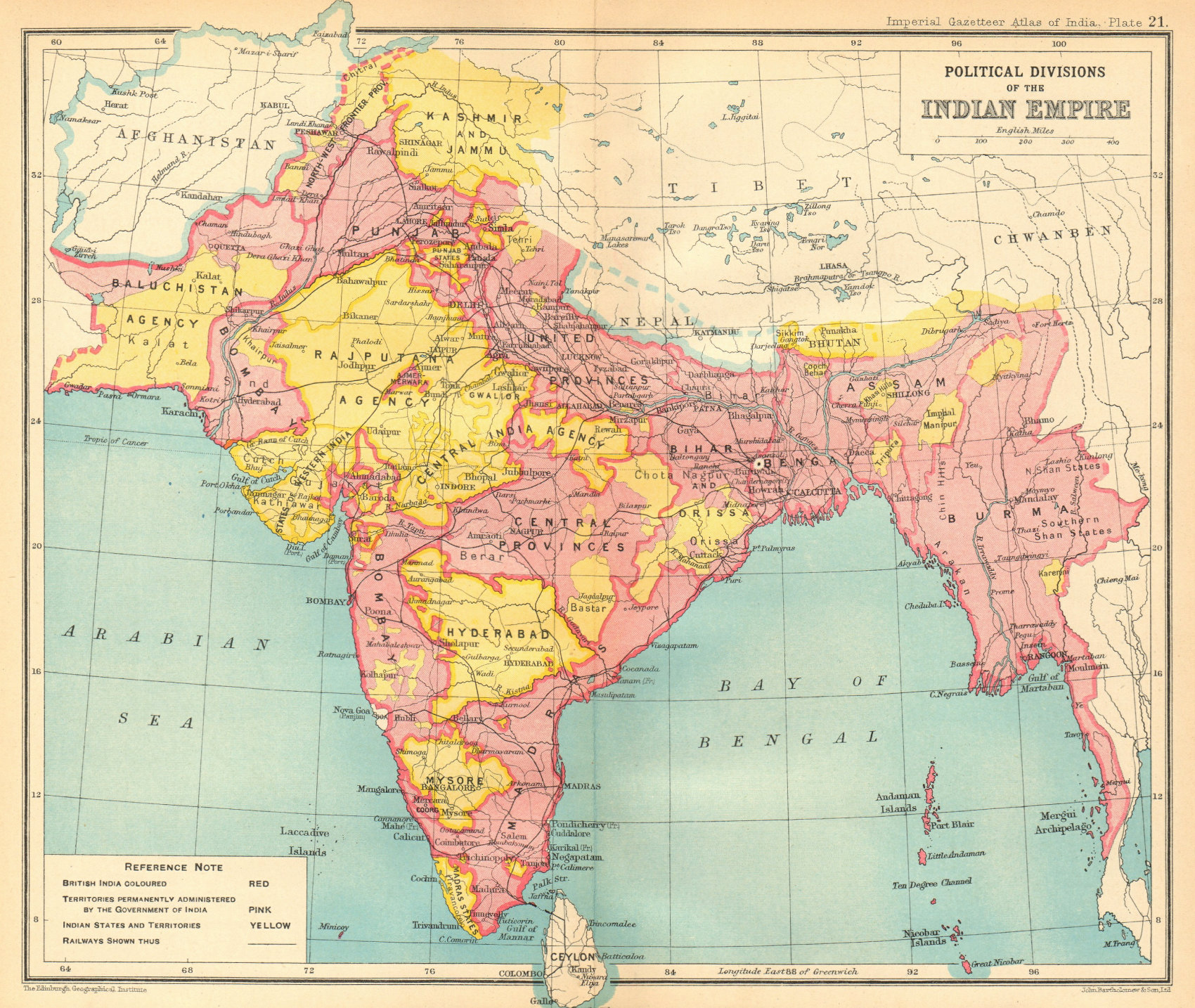 Associate Product BRITISH INDIA Political Divisions. Indian states 1931 old vintage map chart