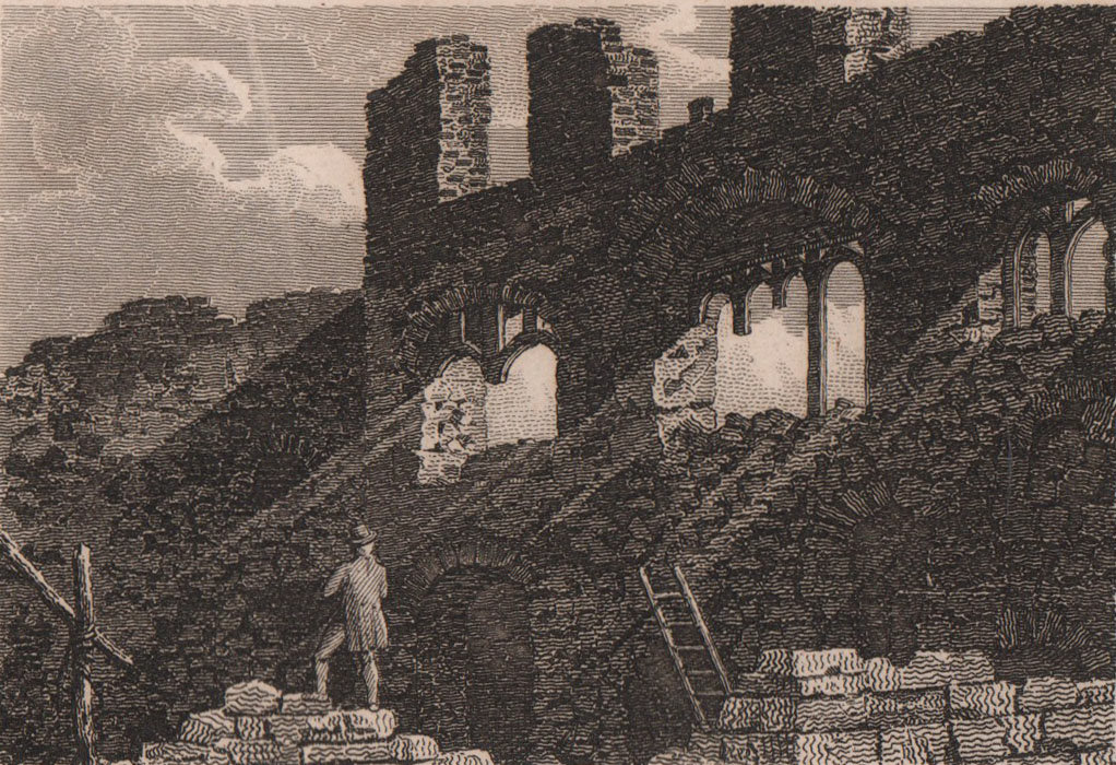 Ruins of the Abbey of the Minoresses of St. Clare without Aldgate 1817 print
