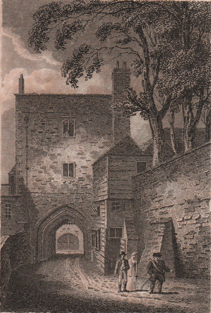 Part of the Tower of London. Antique engraved print 1817 old