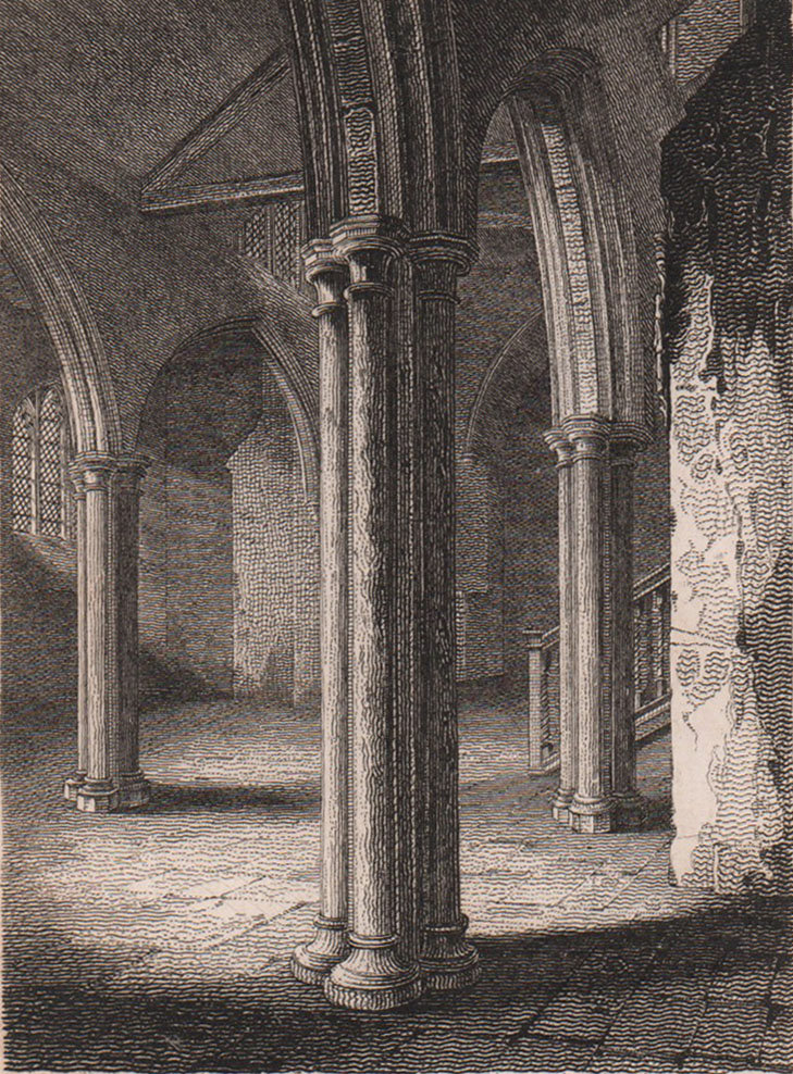 St. Margaret's Chapel, St. Mary Overie Church, Southwark Cathedral 1817 print