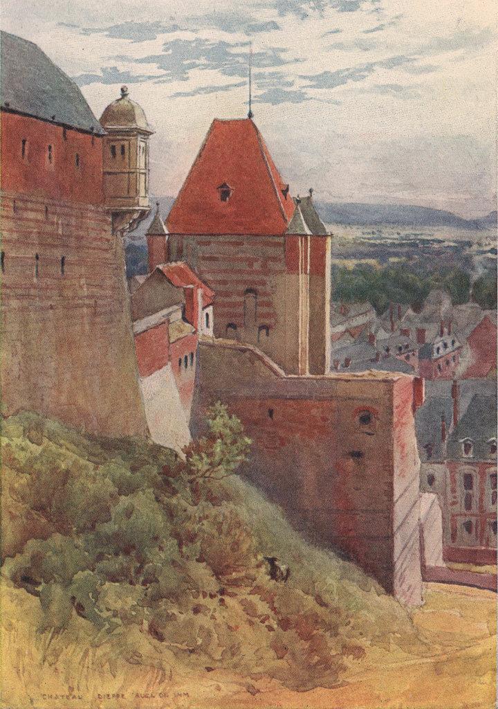Dieppe, 15th century castle by Alexander Murray. Seine-Maritime 1904 old print