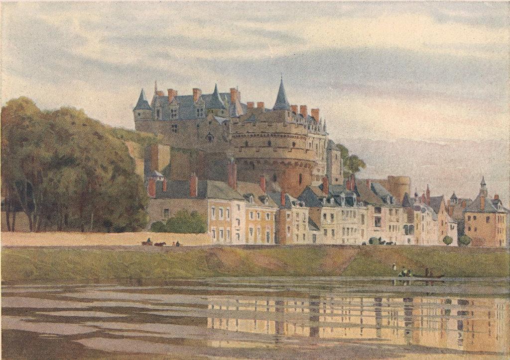 Amboise, the castle by Alexander Murray. Indre-et-Loire 1904 old antique print
