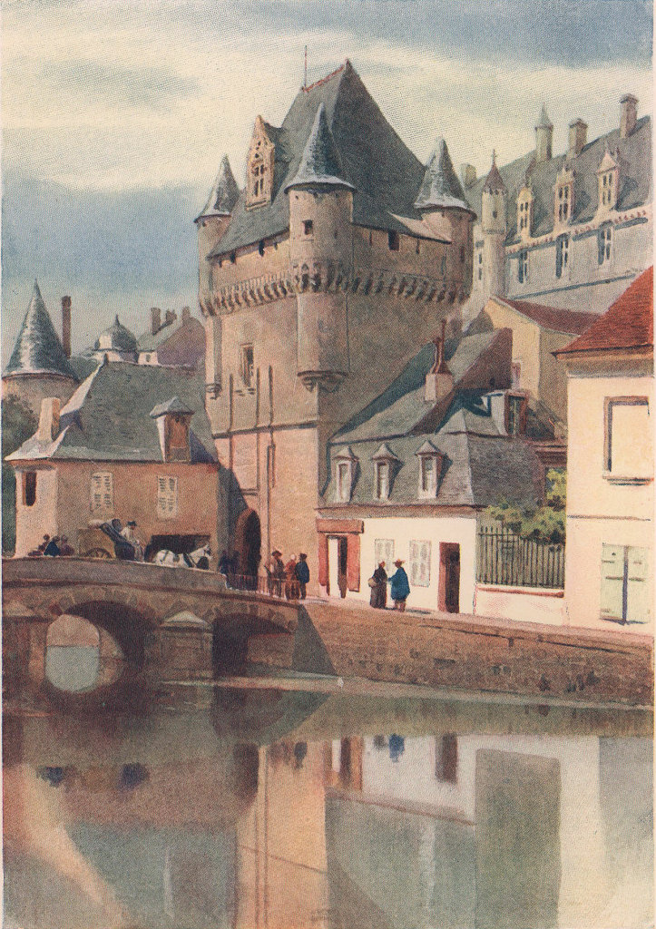 Loches, one of the town gateways by Alexander Murray. Indre-et-Loire 1904