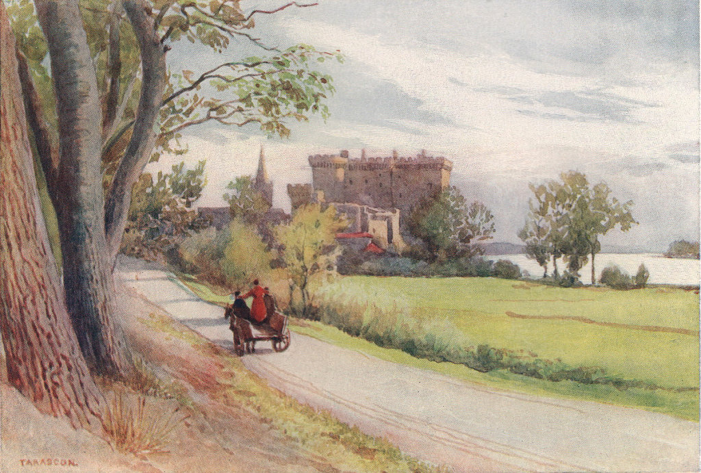 Tarascon, the castle by Alexander Murray. Bouches-du-Rhône 1904 old print