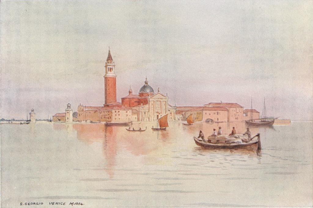 Venice, San Giorgio by Alexander Murray. Venice 1904 old antique print picture