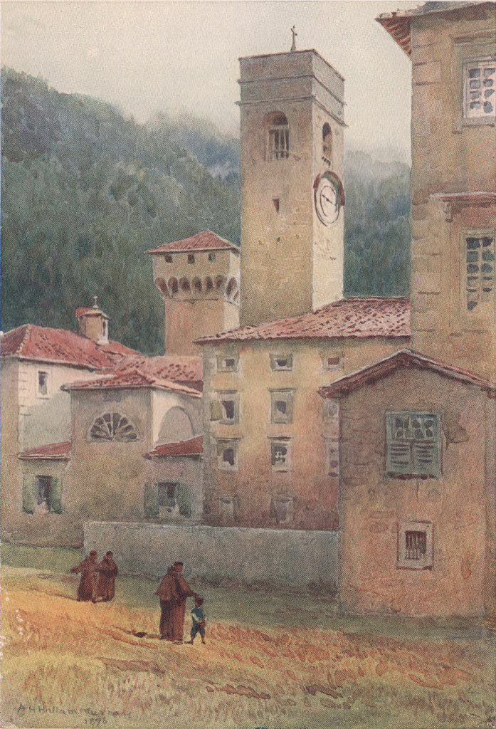 Vallombrosa, monastery by Alexander Murray. Italy 1904 old antique print