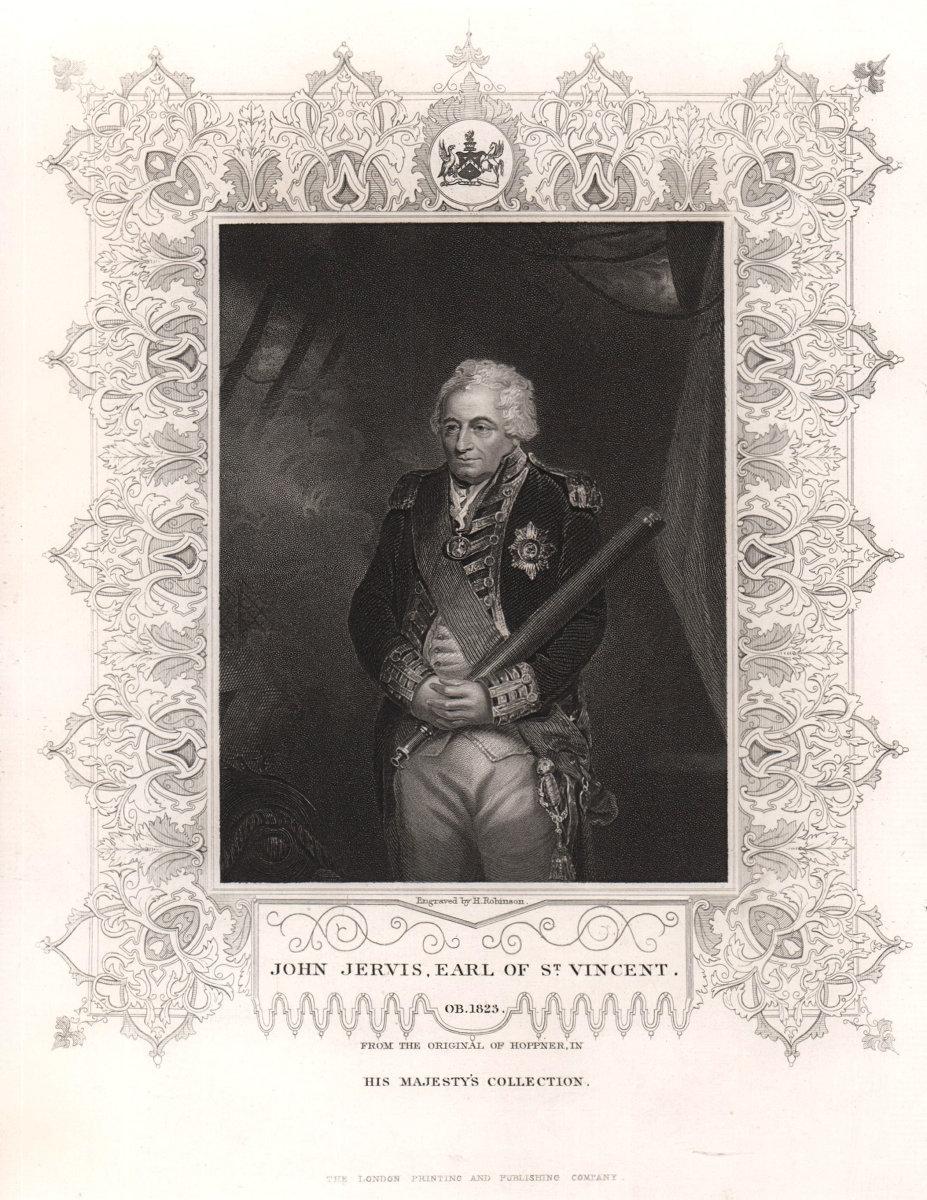 John Jervis, 1st Earl of St Vincent (1735-1823). After Hoppner. TALLIS c1855