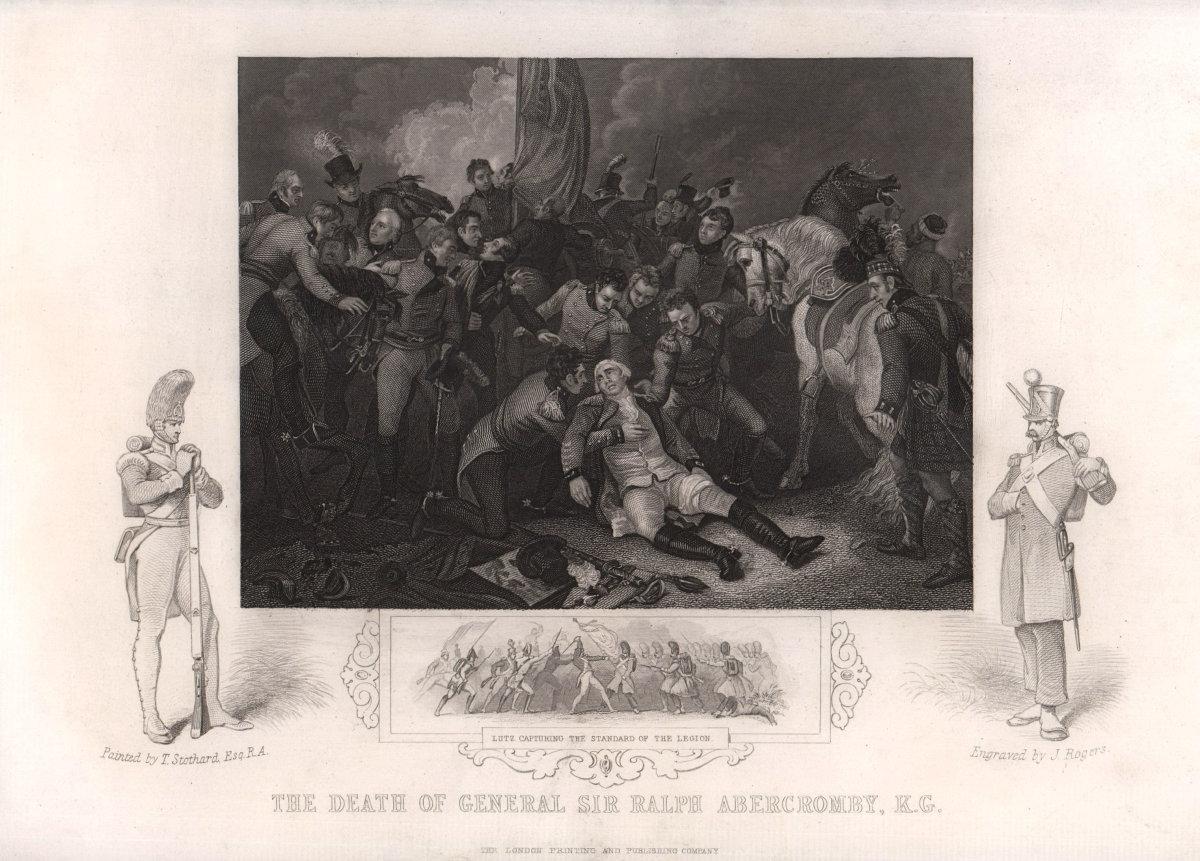 Death of General Sir Ralph Abercromby, Battle of Alexandria 1801. TALLIS c1855
