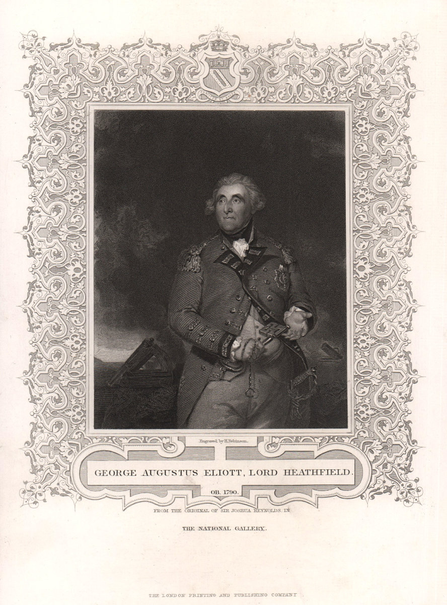 George Augustus Eliott, Lord Heathfield. Governor of Gibraltar. TALLIS c1855