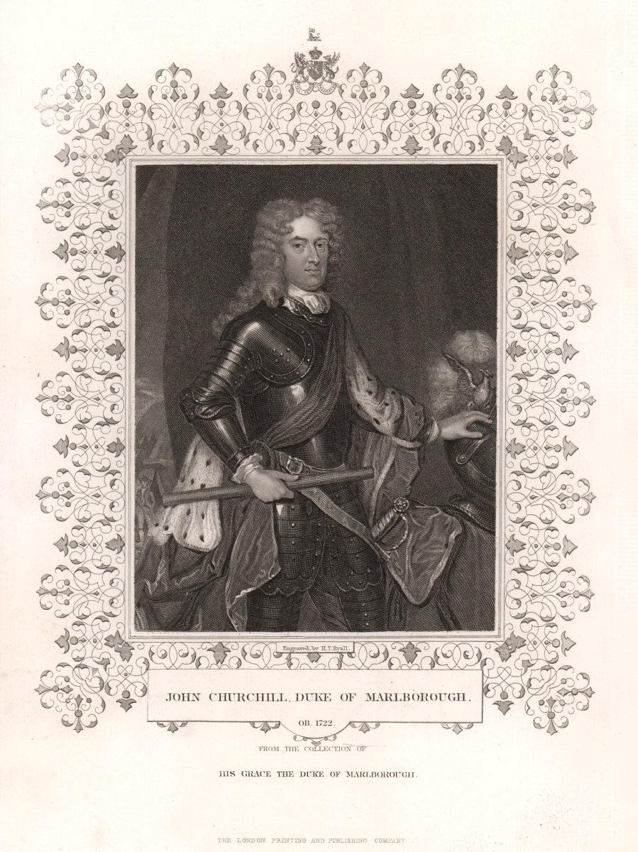 John Churchill, Duke of Marlborough. TALLIS c1855 old antique print picture