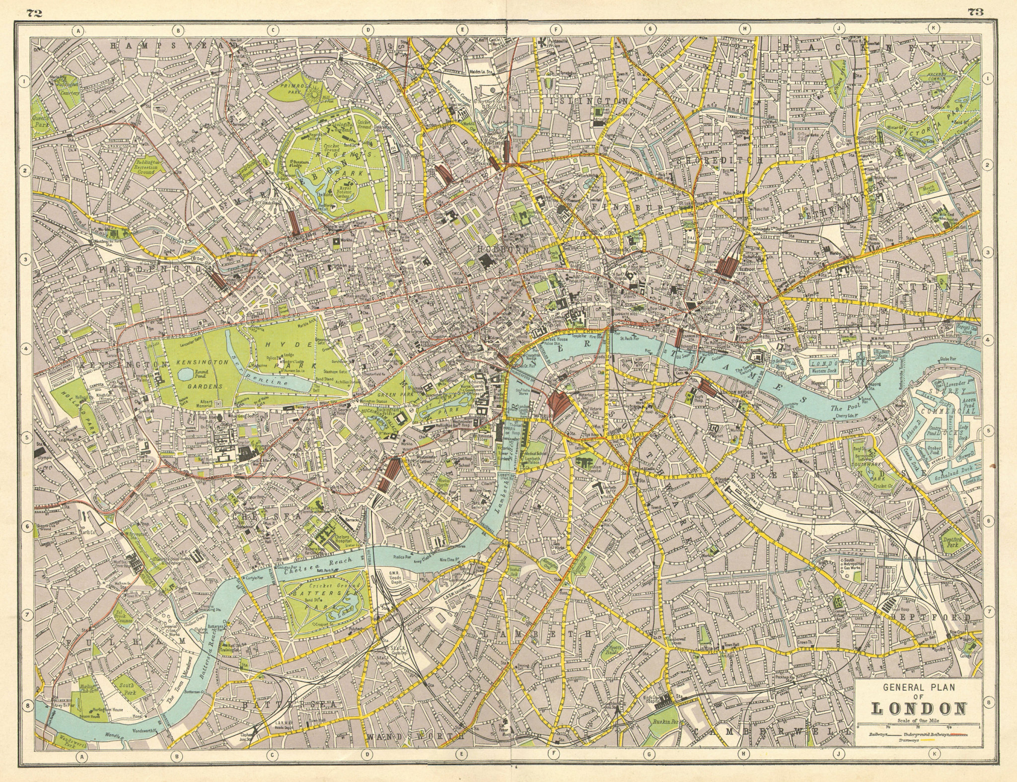 Associate Product LONDON. Central London plan. HARMSWORTH 1920 old antique map chart