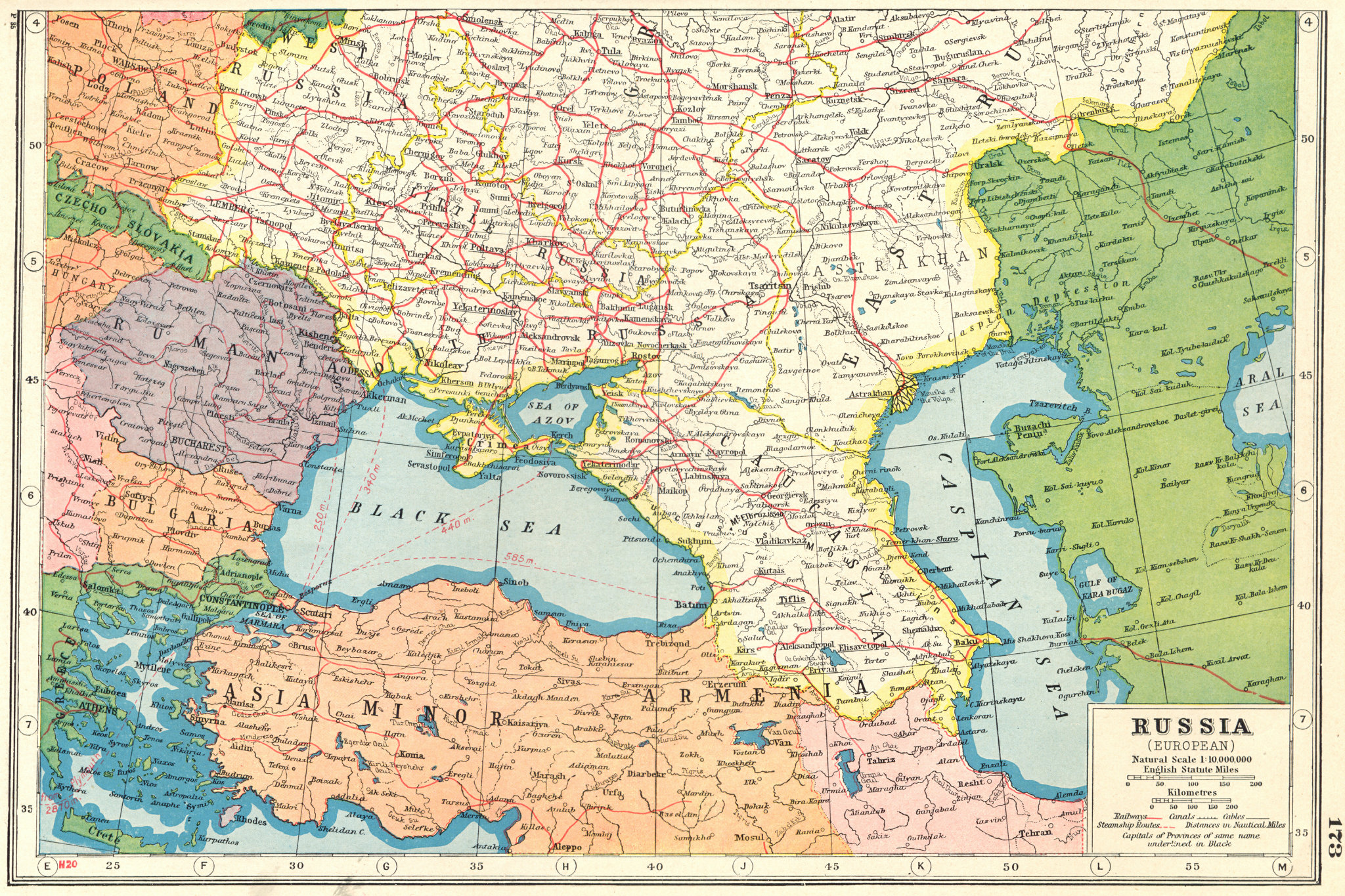 Associate Product UKRAINE. Caucasus Romania Turkey Georgia Armenia Azerbaijan 1920 old map