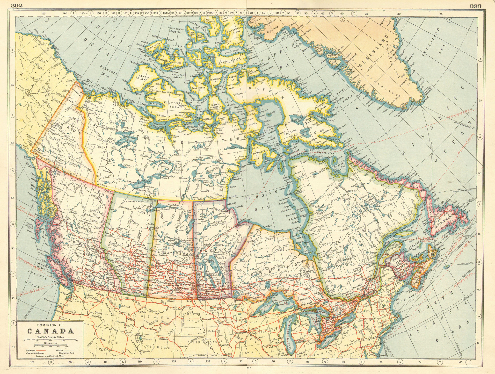 Associate Product CANADA. Dominion of Canada. HARMSWORTH 1920 old antique vintage map plan chart
