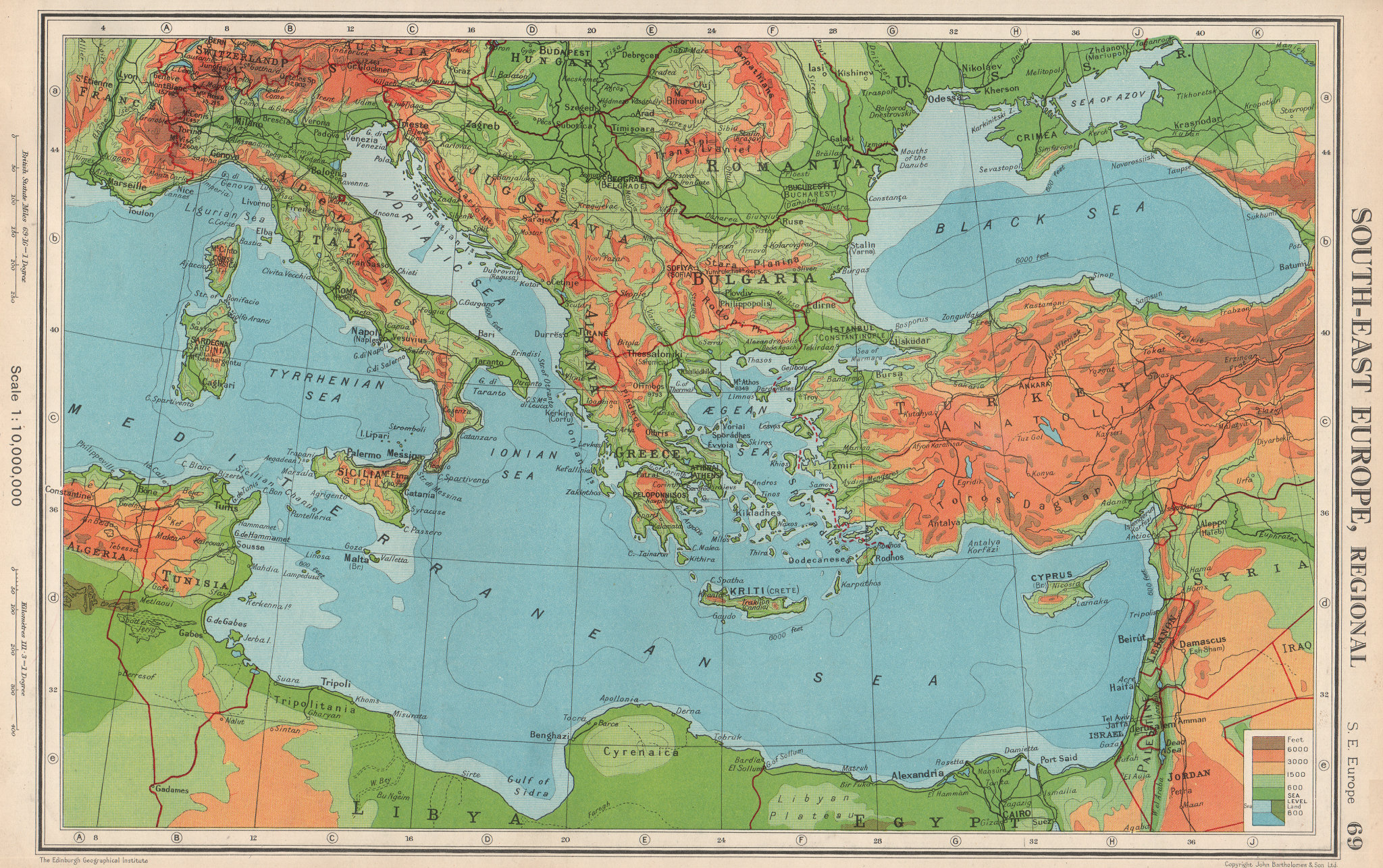 Associate Product SE EUROPE.Pre Osimo Treaty. Free Territory of Trieste Zone B is Italian 1952 map