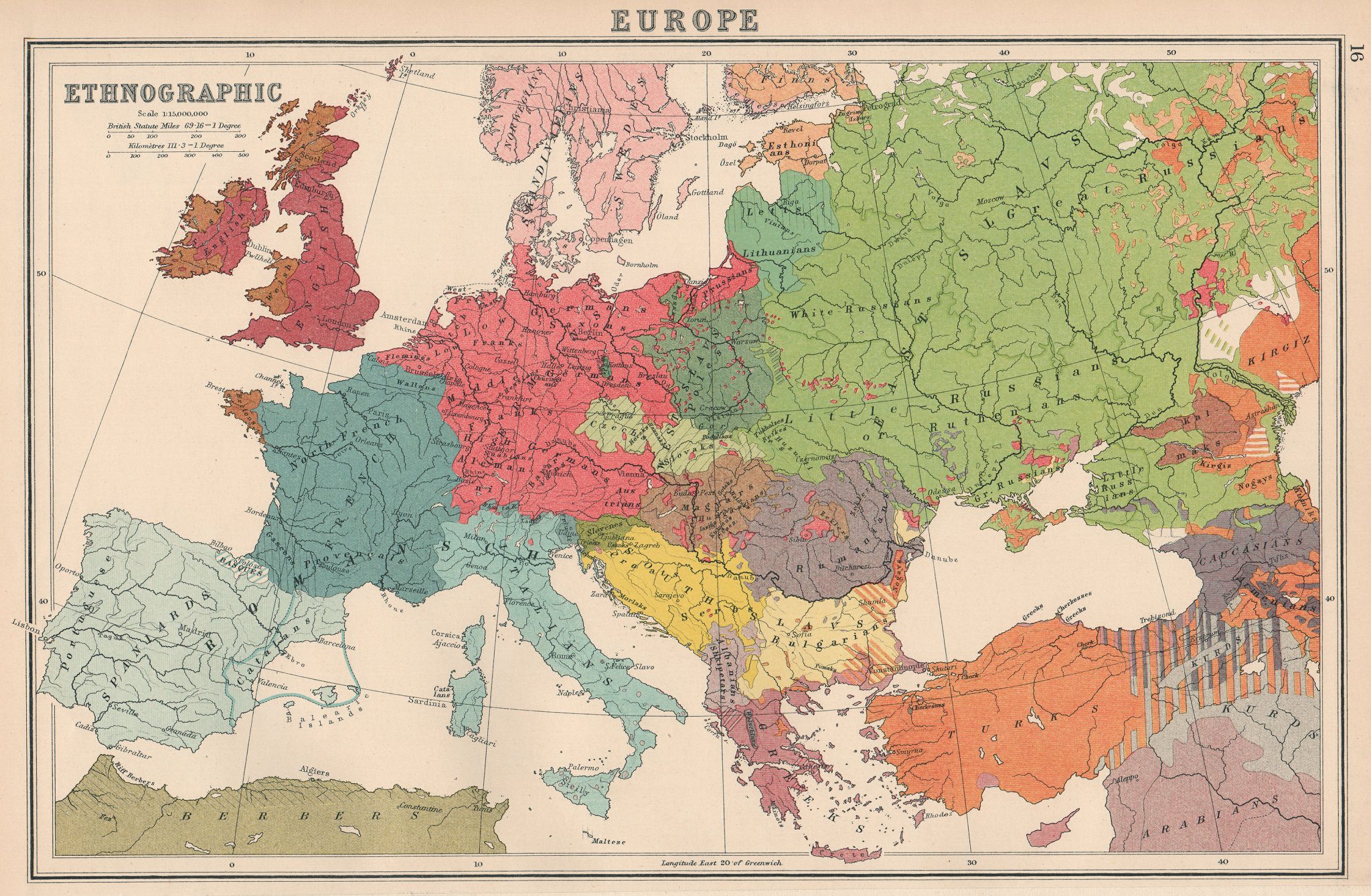 Associate Product EUROPE ETHNOGRAPHIC. Races Racial. BARTHOLOMEW 1924 old vintage map plan chart