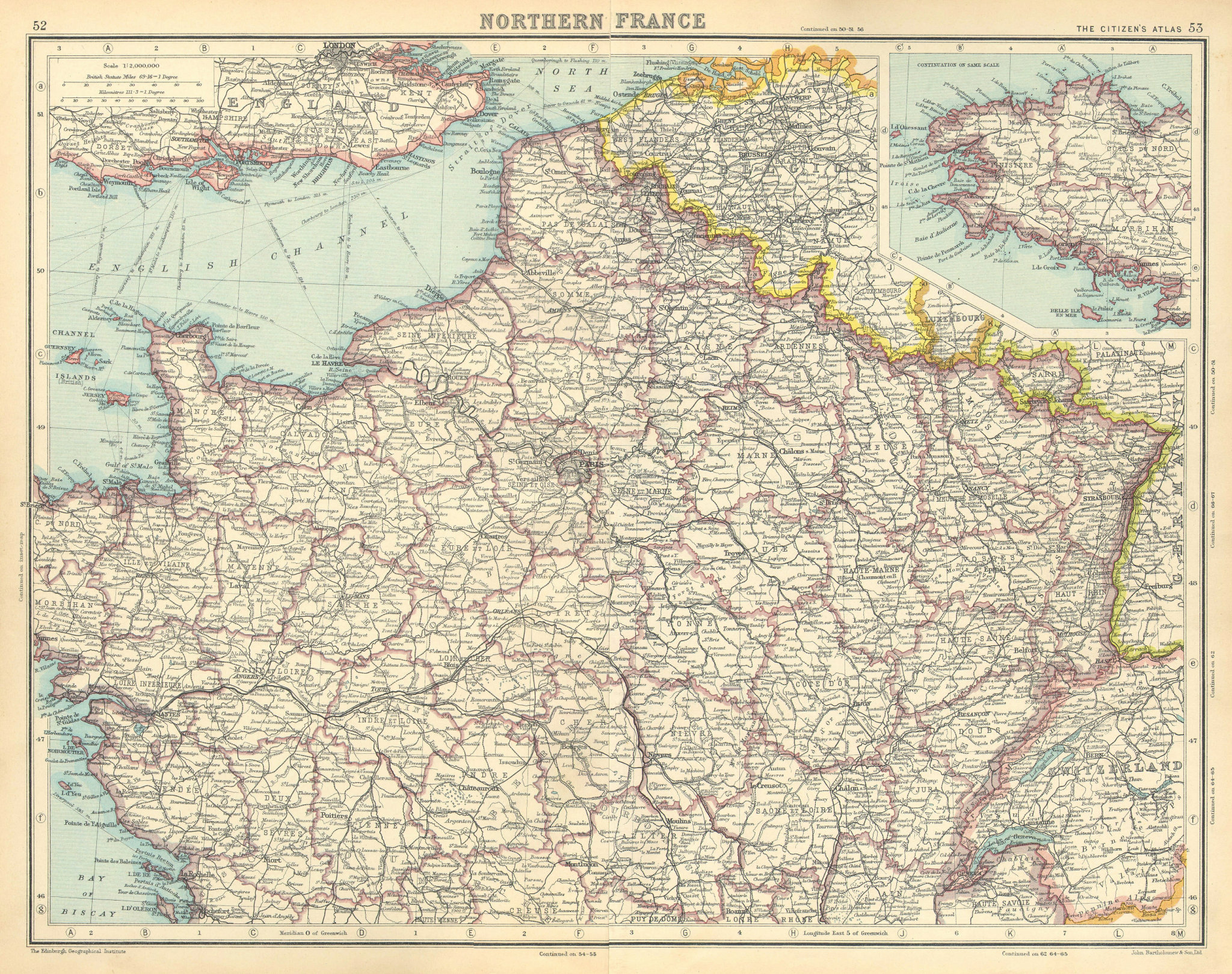 Associate Product NORTHERN FRANCE. Saar Basin Territory under League of Nations mandate 1924 map