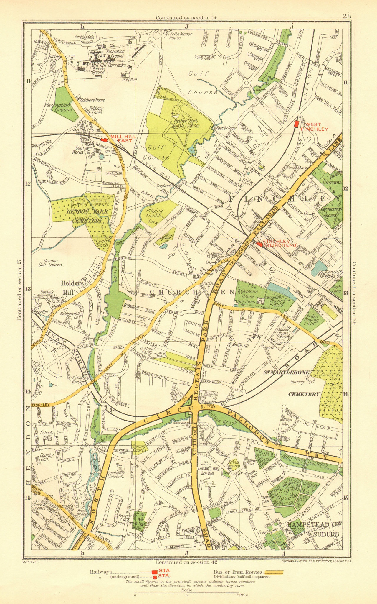 Associate Product FINCHLEY. Church End Hampstead Garden Suburb Mill Hill Hendon 1937 old map