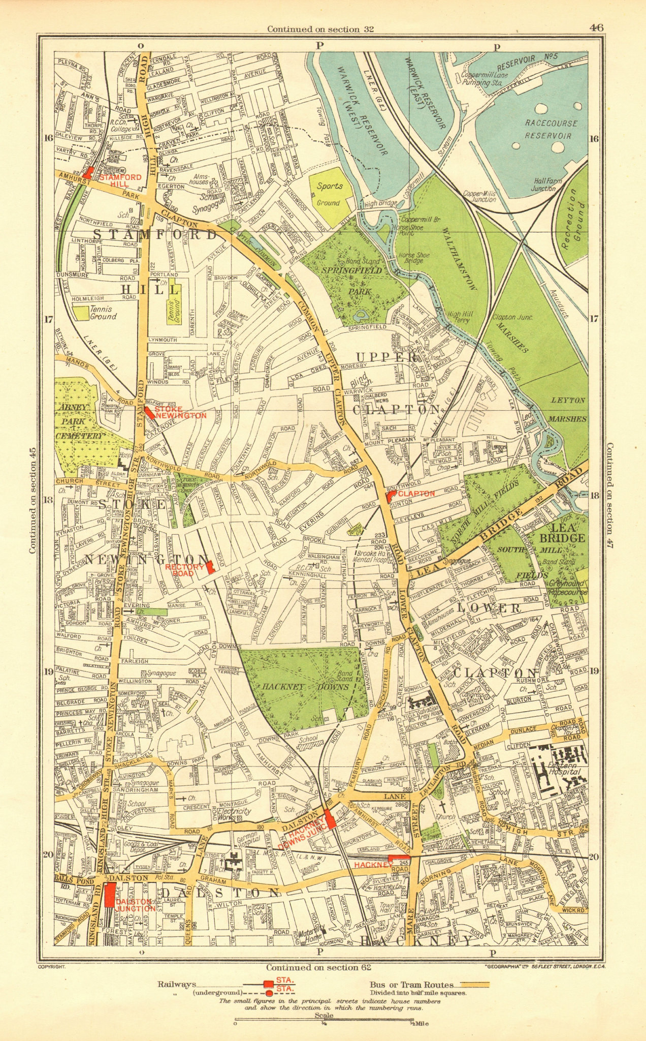Associate Product STOKE NEWINGTON. Dalston Clapton Stamford Hill Upper Clapton 1937 old map
