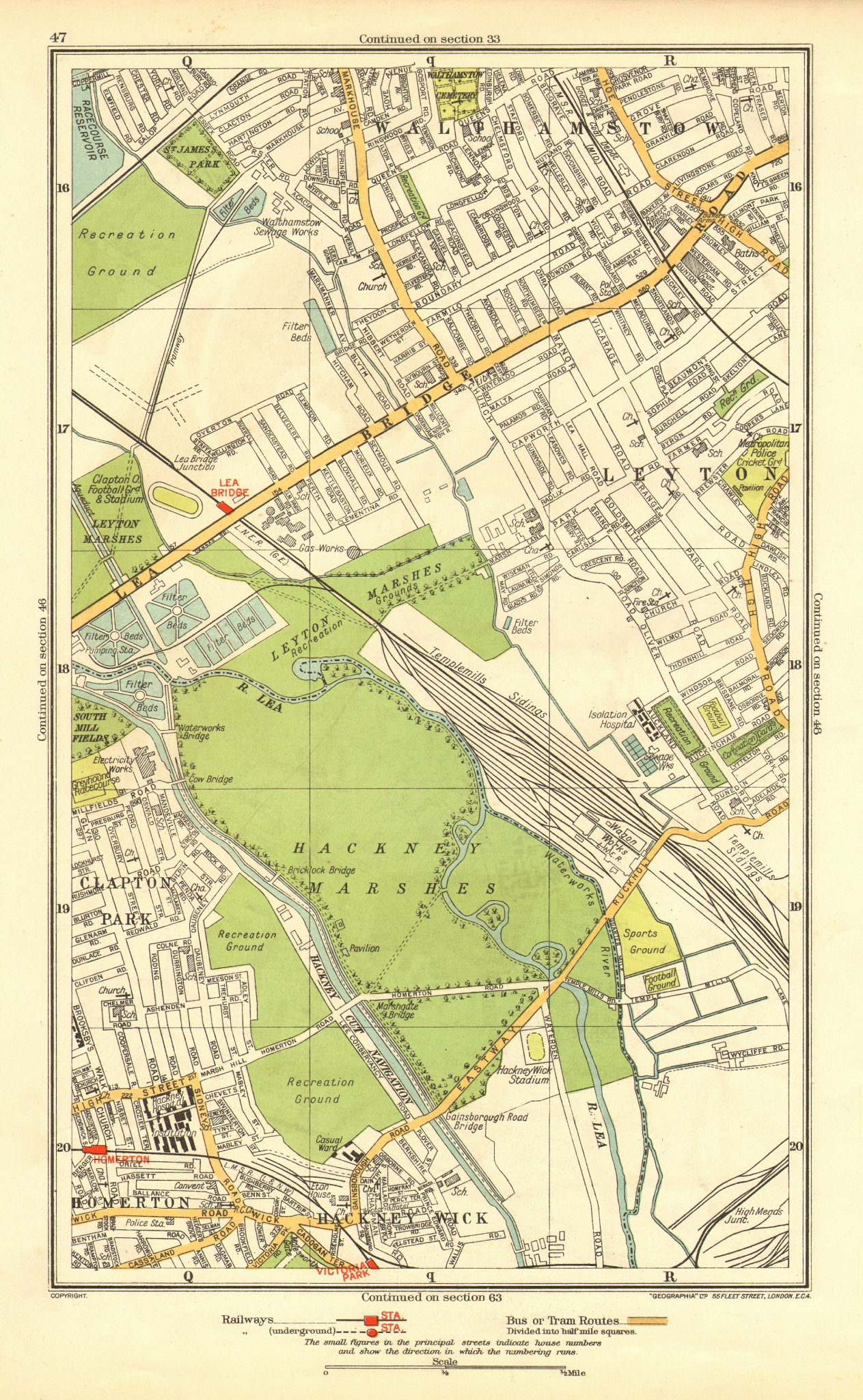 Associate Product LEYTON. Hackney Marsh/Wick Homerton Walthamstow Clapton Park 1937 old map
