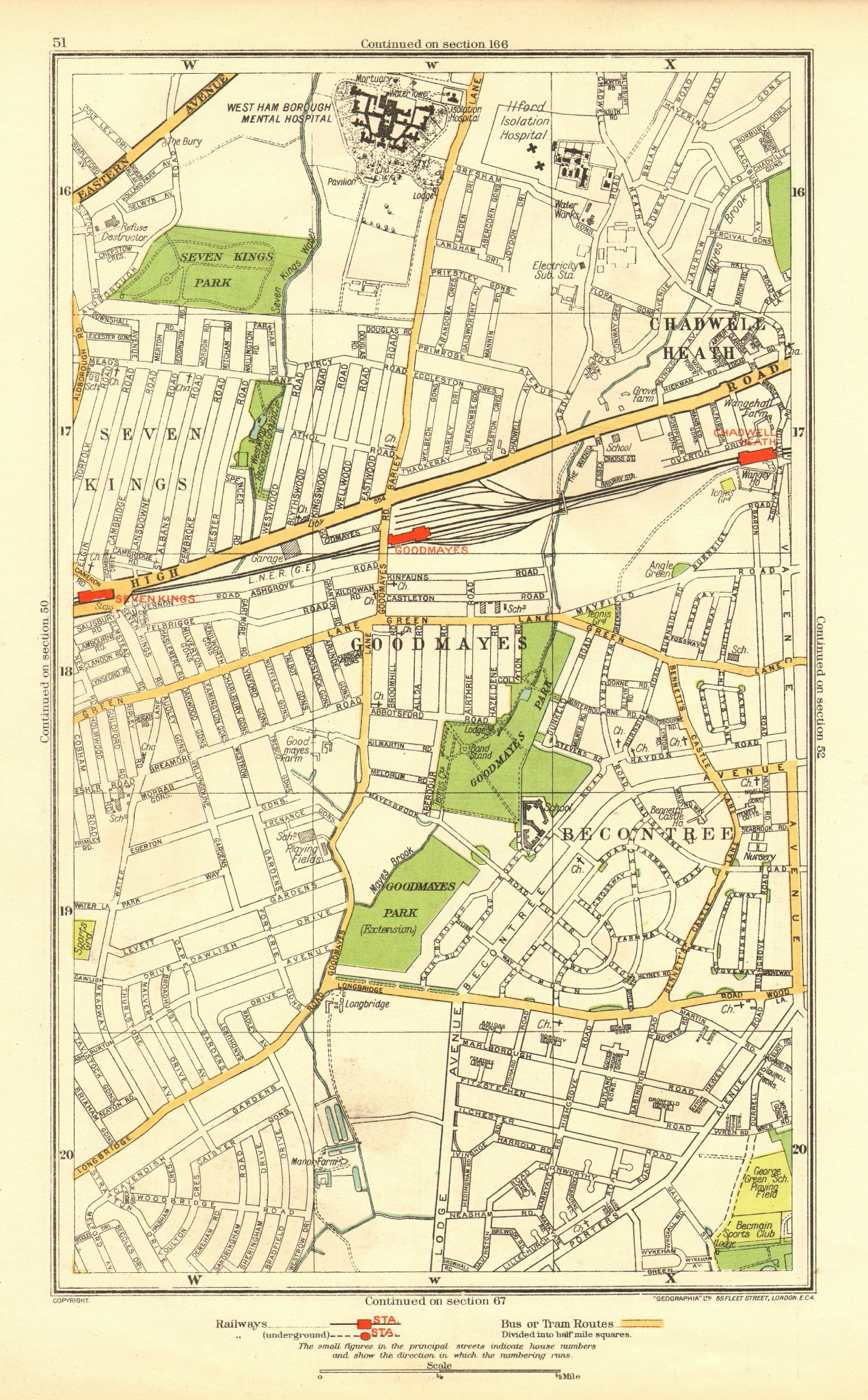 Associate Product LONDON. Becontree Goodmayes Seven Kings Chadwell Heath Longbridge Rd 1937 map