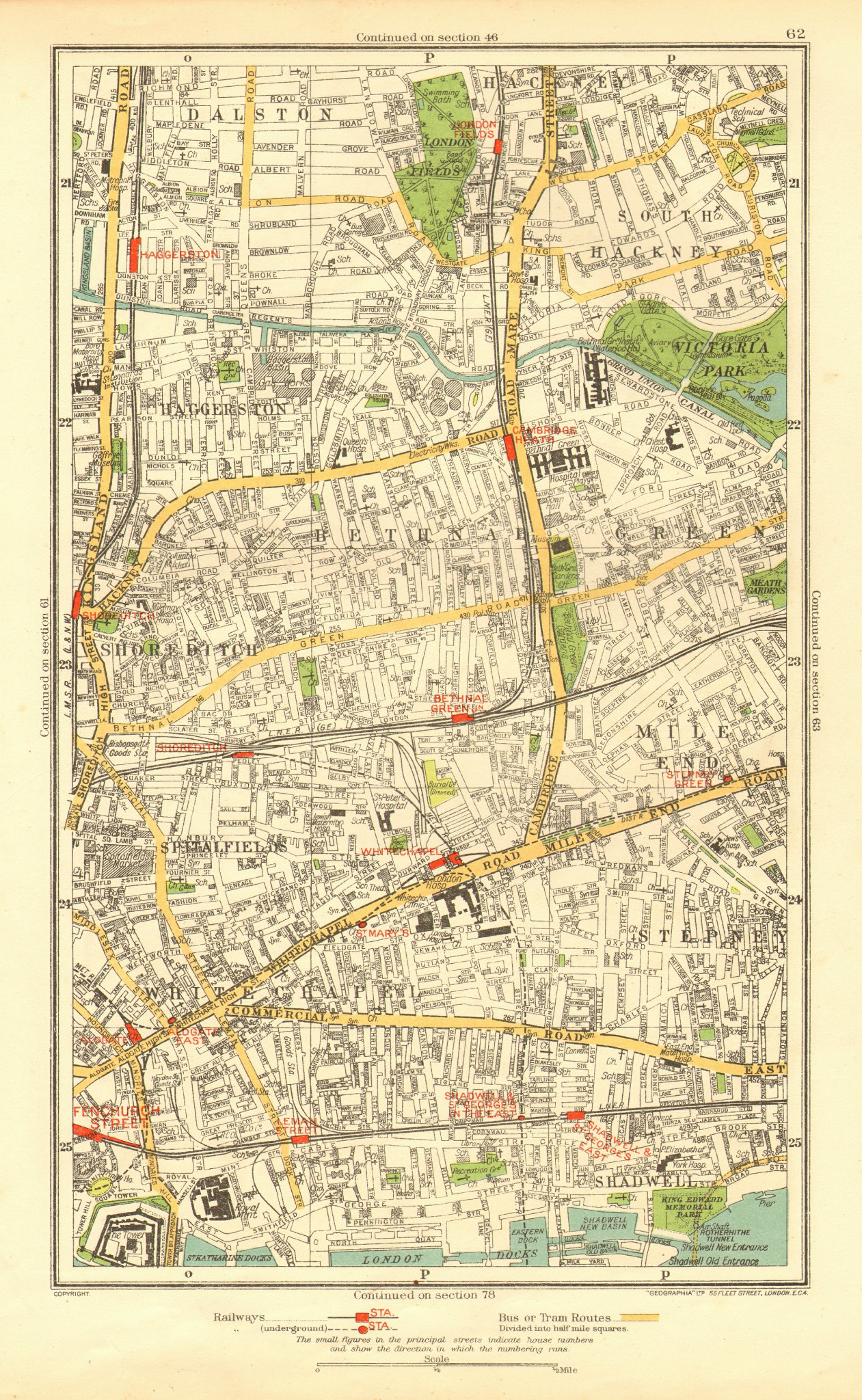 Associate Product EAST END. Shoreditch Bethnal Green Stepney Hackney Mile End Haggerston 1937 map