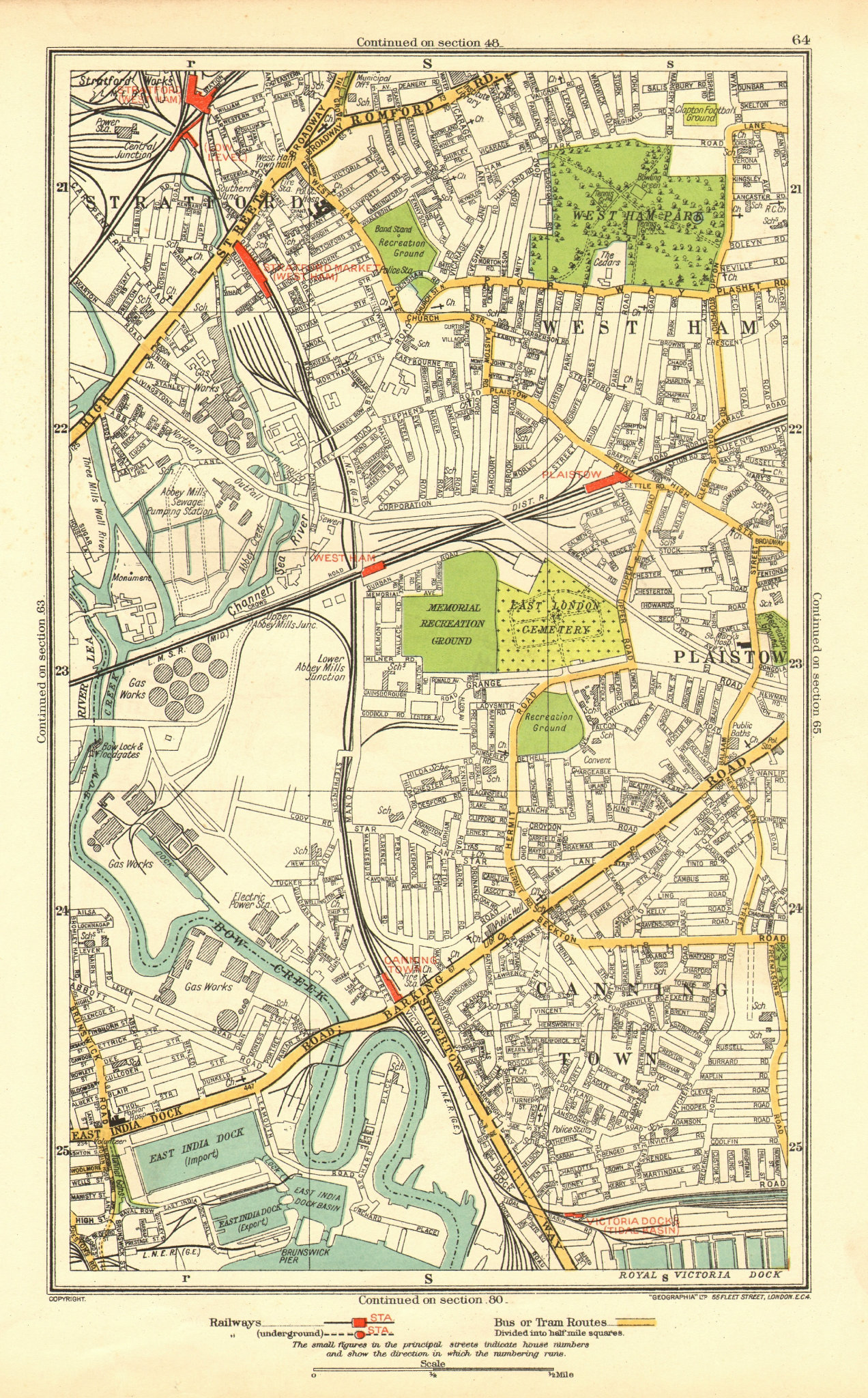 Associate Product LONDON. Canning Town Stratford West Ham Plaistow Blackwall Poplar 1937 old map