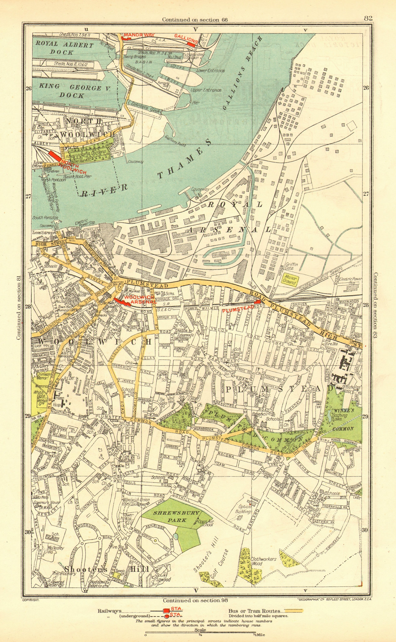 Associate Product LONDON. North Woolwich Plumstead Gallions Manor Way Woolwich Arsenal 1937 map