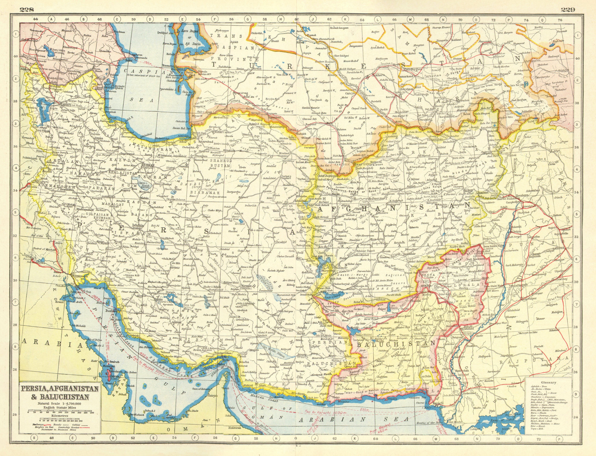 Associate Product SOUTH WEST ASIA. Persia Afghanistan Baluchistan.Pakistan.British India 1920 map