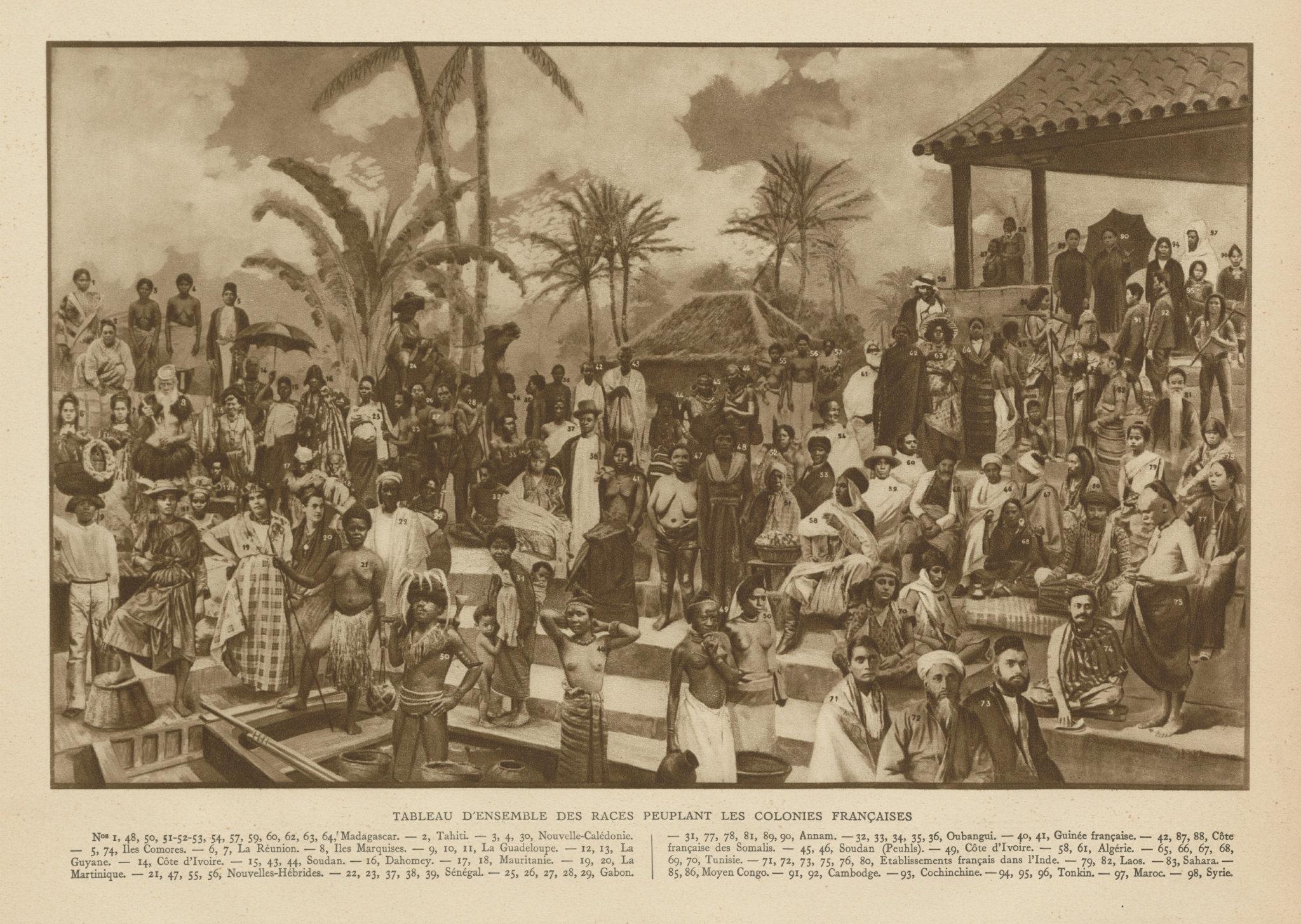 Associate Product Tableau des races des colonies Francaises. People of the French colonies 1929