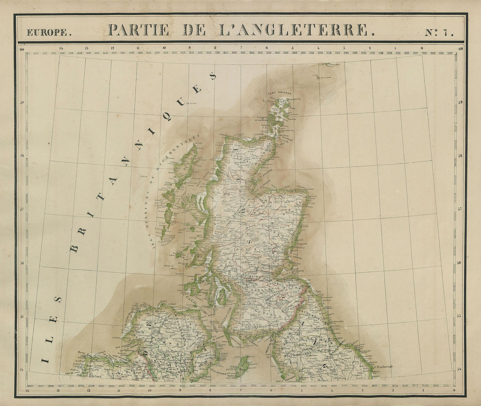 Europe. Angleterre #7 Scotland Ulster Northern England. VANDERMAELEN 1827 map