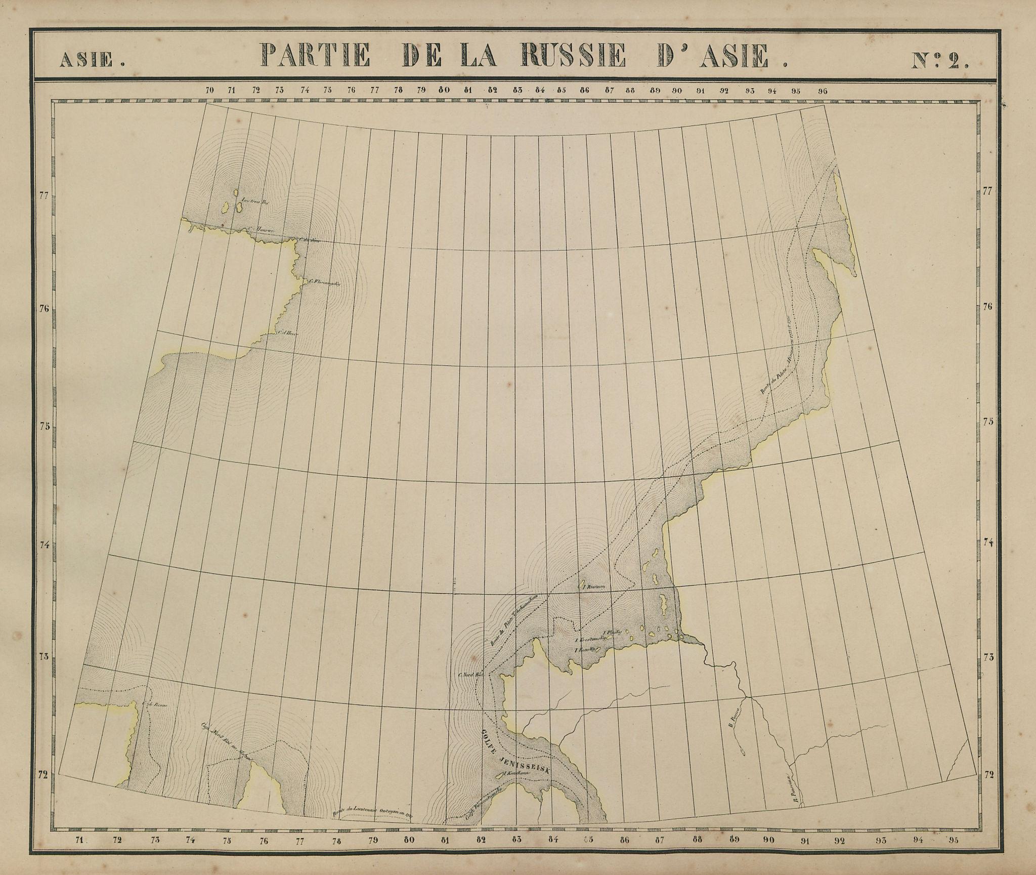Russie d'Asie #2 Russia. Kara Sea. Taymyr peninsula VANDERMAELEN 1827 old map