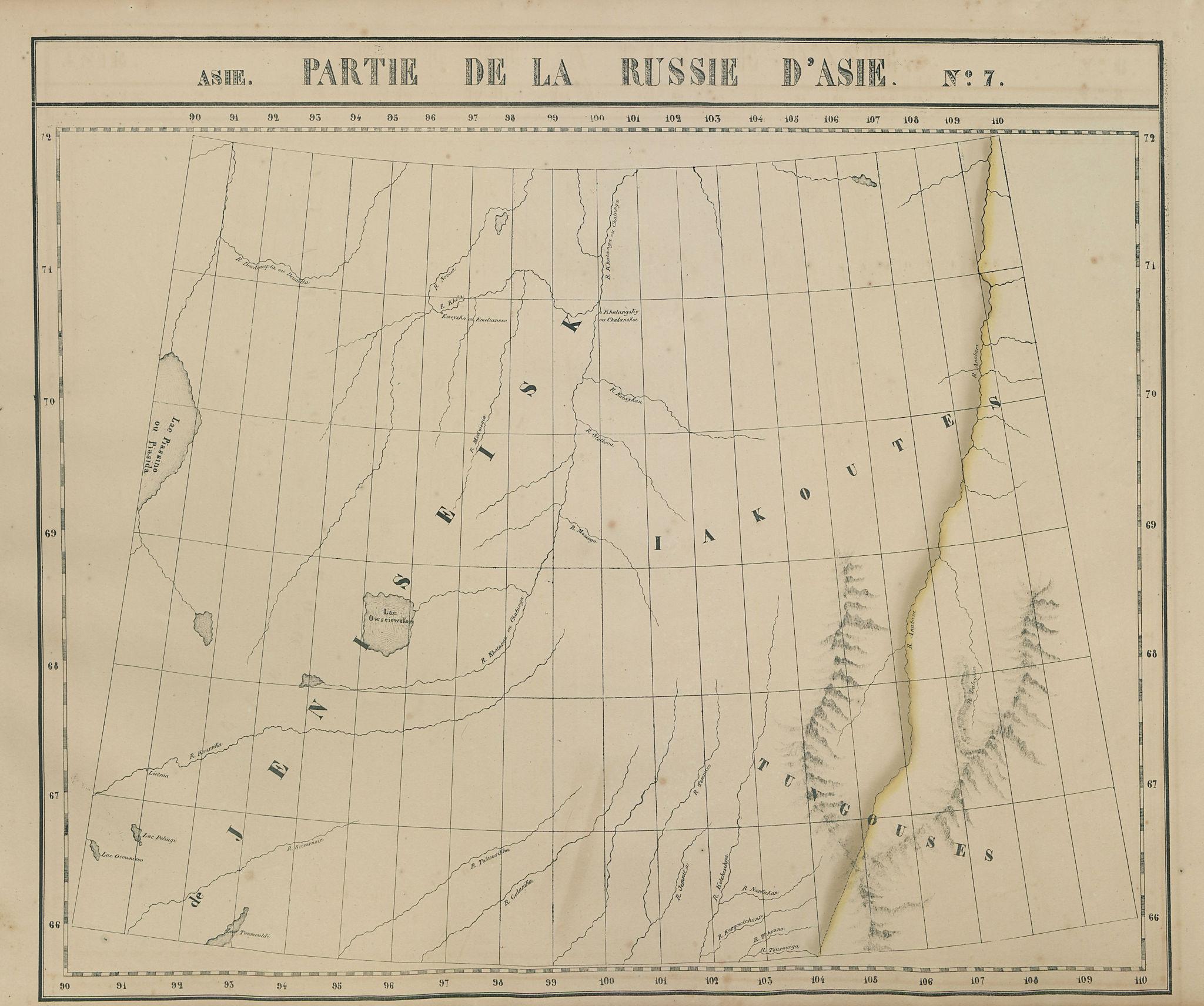Partie… Russie d'Asie #7 Russia Siberia Krasnoyarsk Sakha. VANDERMAELEN 1827 map