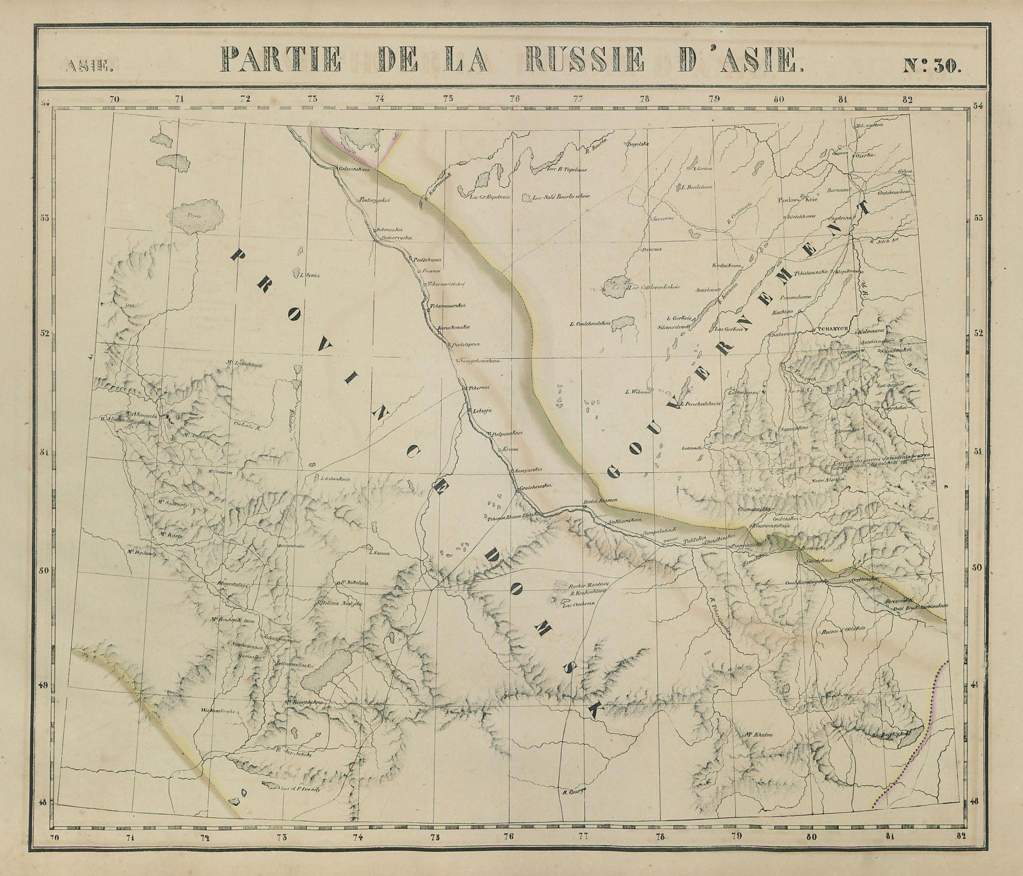 Russie d'Asie #30 NE Kazakhstan. Altai Krai Irtysh Russia VANDERMAELEN 1827 map