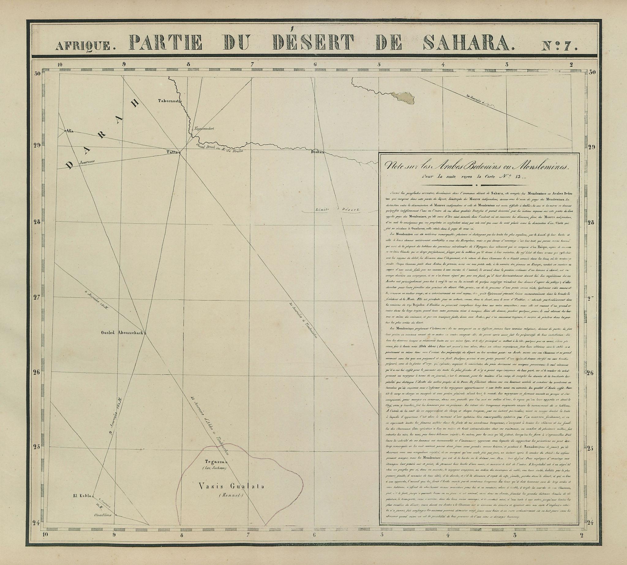 Afrique Partie… Désert de Sahara 7 Algeria Mauritania Mali VANDERMAELEN 1827 map