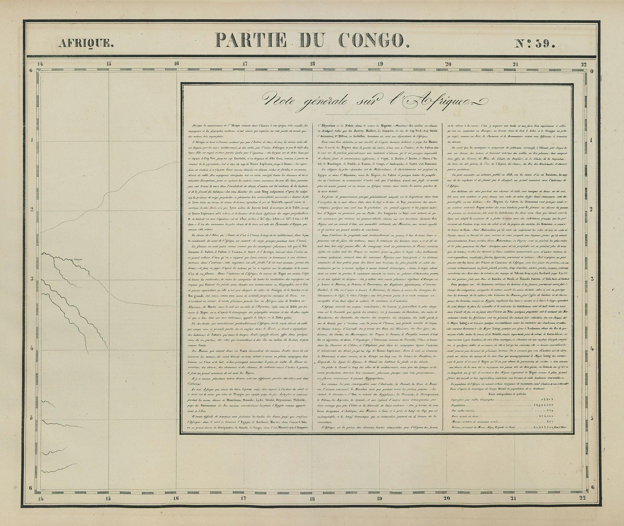 Afrique. Partie du Congo. Note générale sur l'Afrique #39. VANDERMAELEN 1827 map