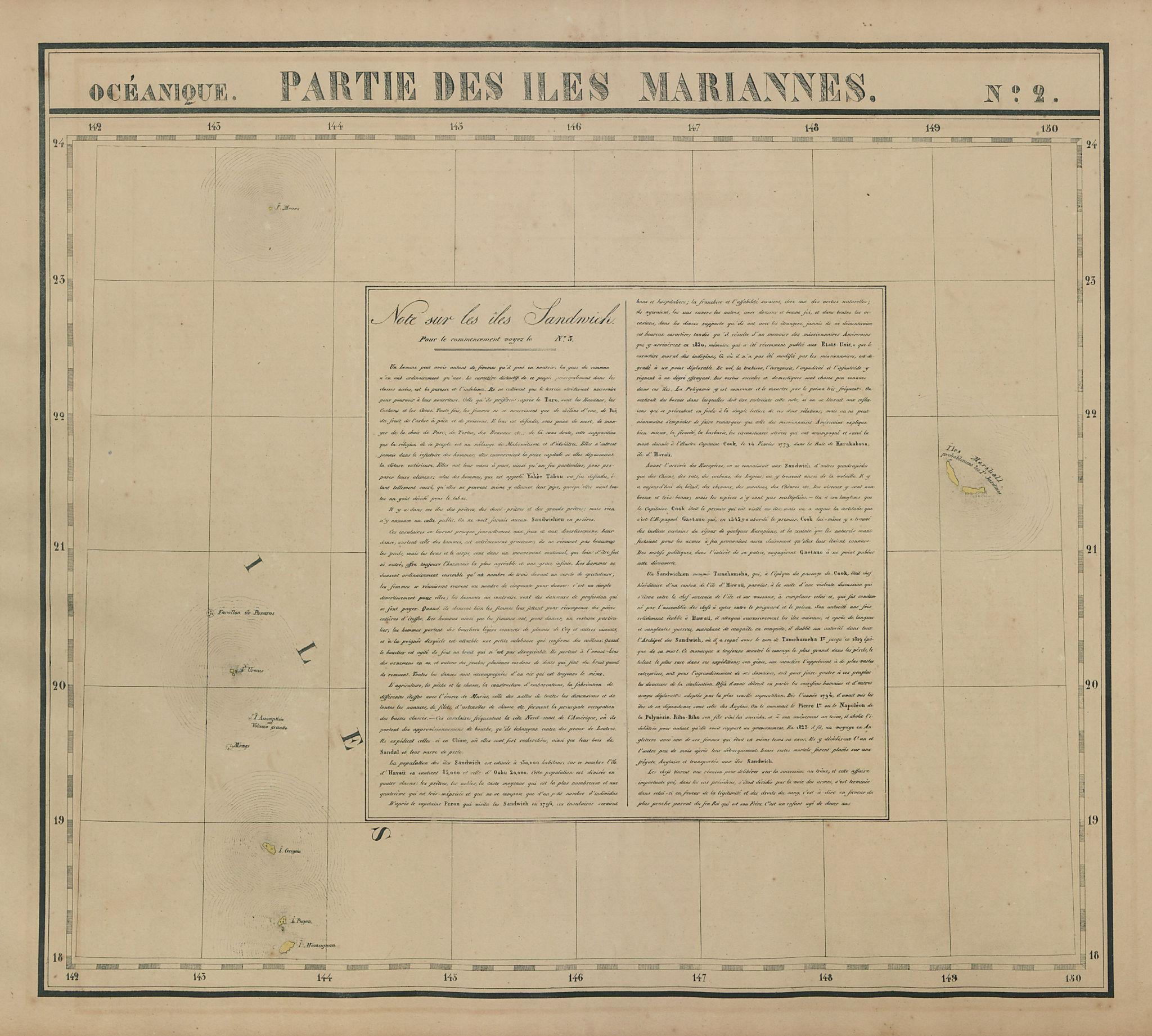 Océanique. Partie… Iles Mariannes #2 North Mariana Islands VANDERMAELEN 1827 map