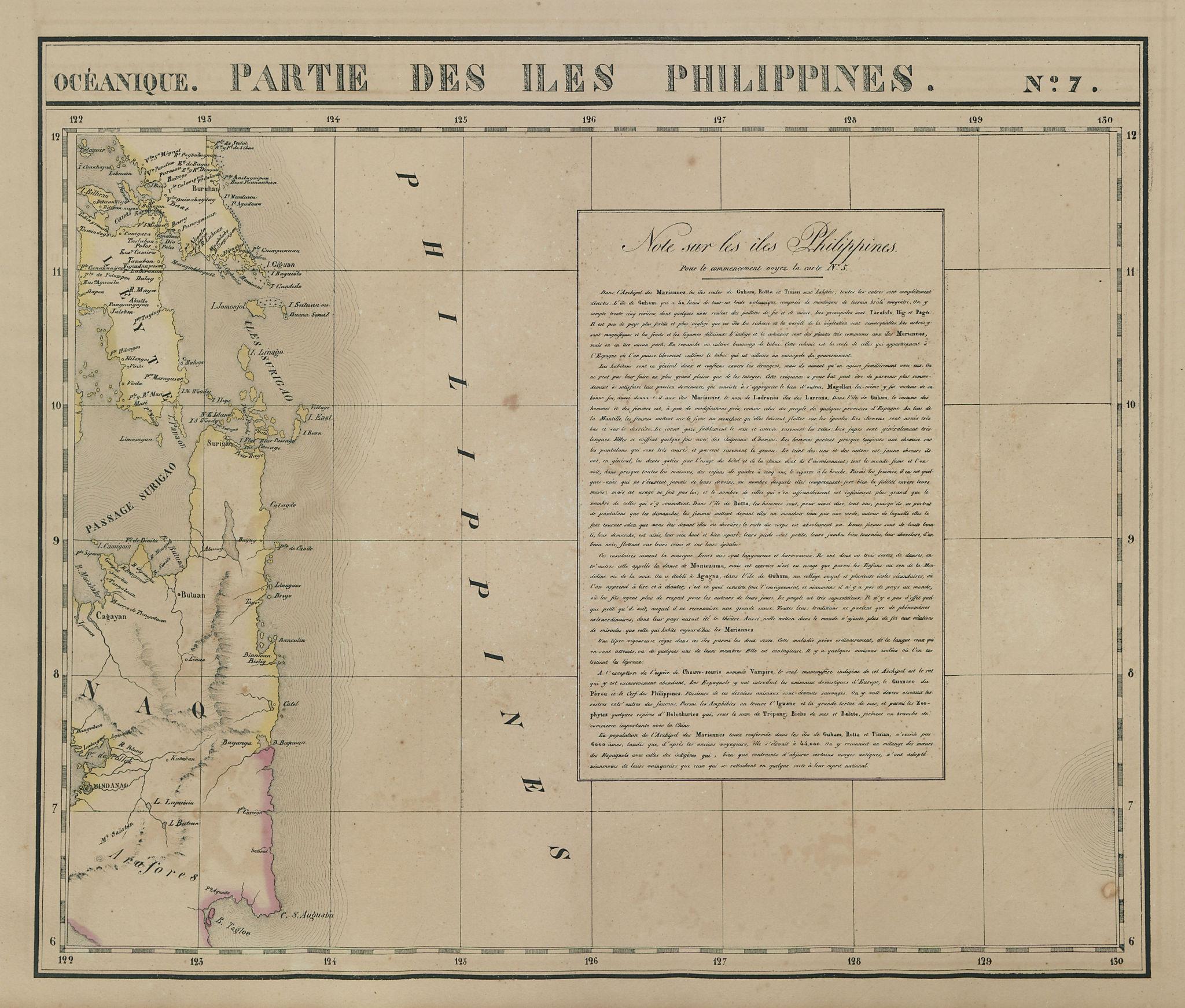 Océanique. Partie des Iles Philippines #7. Mindanao Leyte. VANDERMAELEN 1827 map