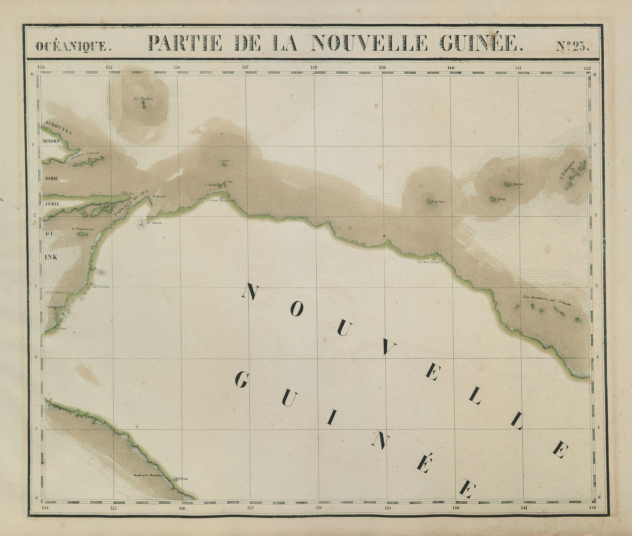 Océanique. Partie de la Nouvelle Guinée #23. New Guinea. VANDERMAELEN 1827 map
