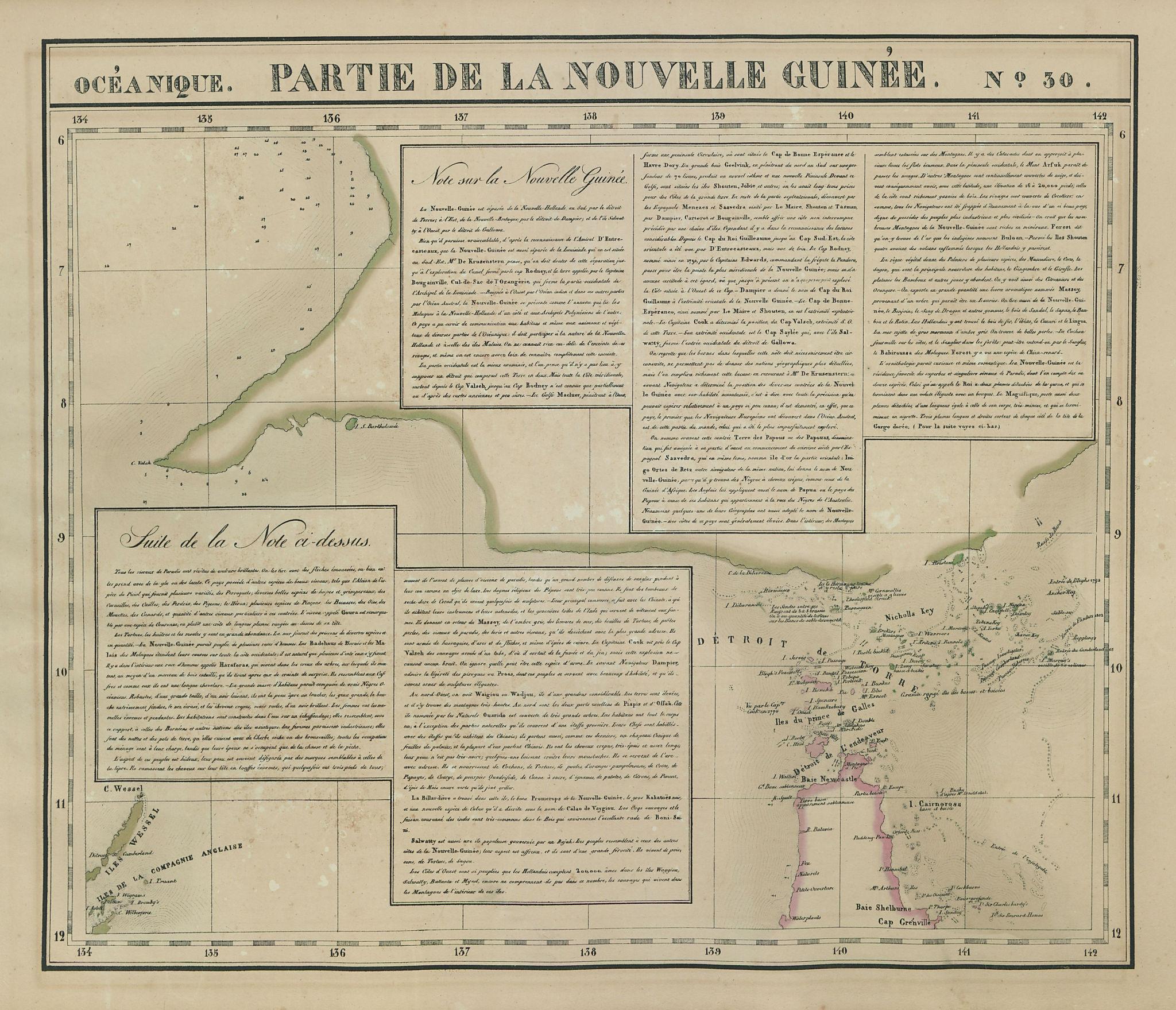 Océanique. Partie de la Nouvelle Guinée #30. Torres Strait VANDERMAELEN 1827 map