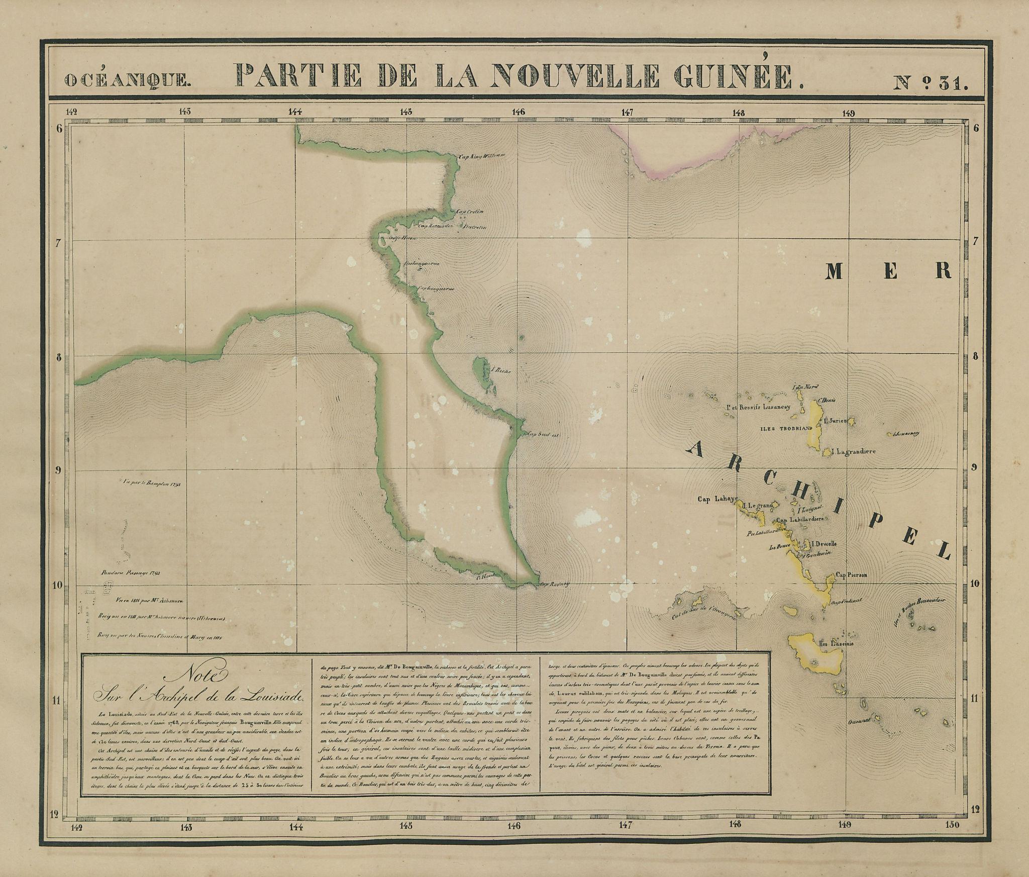 Océanique. Partie de la Nouvelle Guinée #31. New Guinea. VANDERMAELEN 1827 map