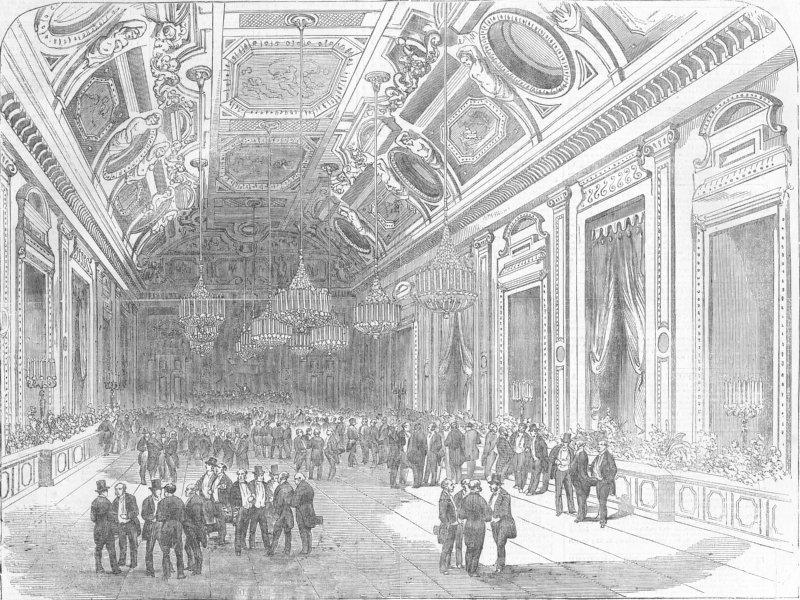 Associate Product PARIS. The Universal Exposition fete, at the Hotel du Louvre. France, 1855
