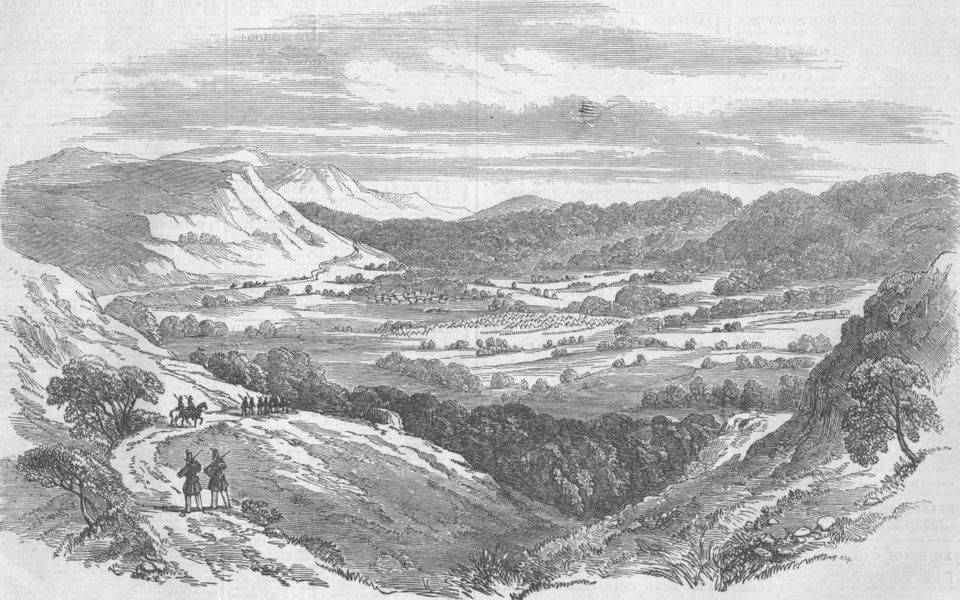 Associate Product CRIMEAN WAR/UKRAINE. The Valley of the Baidar, antique print, 1855