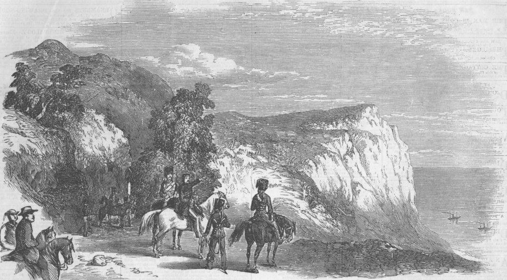 Associate Product CRIMEAN WAR/UKRAINE. Pass of Poros, Baidar, antique print, 1855