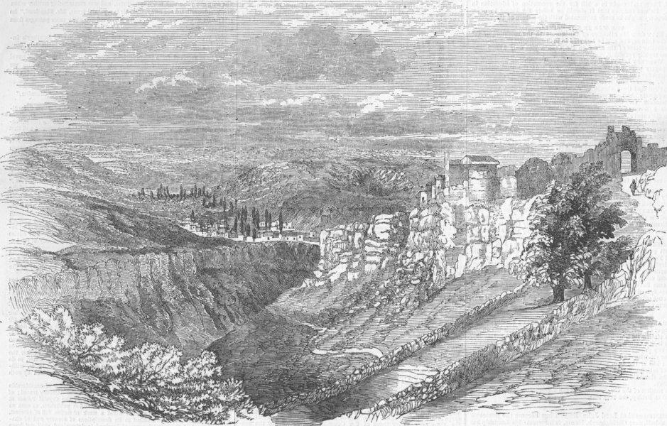Associate Product CRIMEAN WAR. Fortress of Schonful-Kele. Sevastopol in the Distance, print, 1855