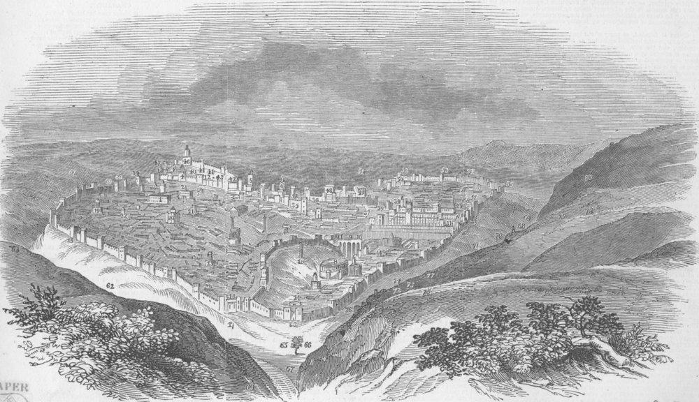 Associate Product PALESTINE. Brunetti's Model of Ancient Jerusalem, antique print, 1847