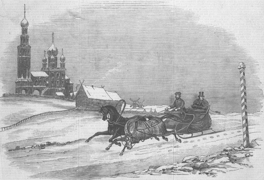 Associate Product RUSSIA. Winter in Russia, antique print, 1847