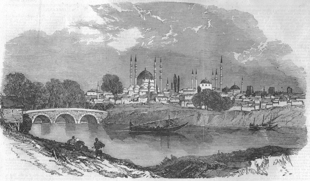 Associate Product TURKEY. Edirne, antique print, 1853