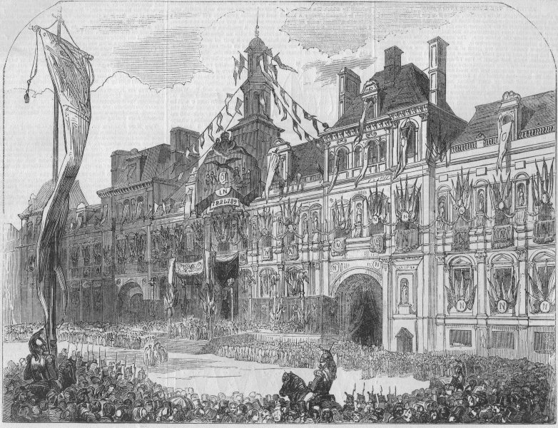 Associate Product PARIS. Proclamation of the Second French Empire, at the Hotel de Ville, 1852