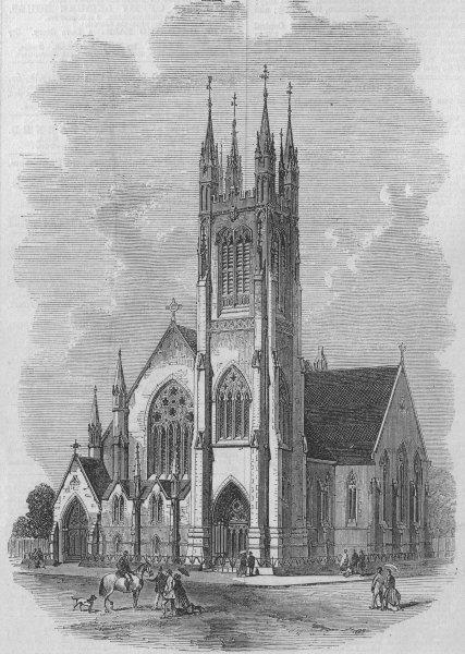 Associate Product MONTREAL. St Paul's Scottish Presbyterian Church. Canada, antique print, 1868